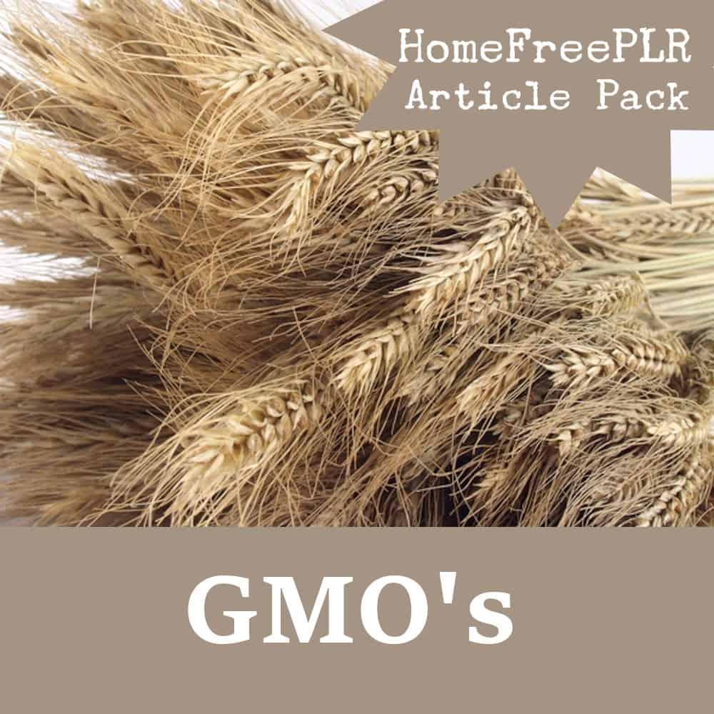 GMOs PLR Pack
