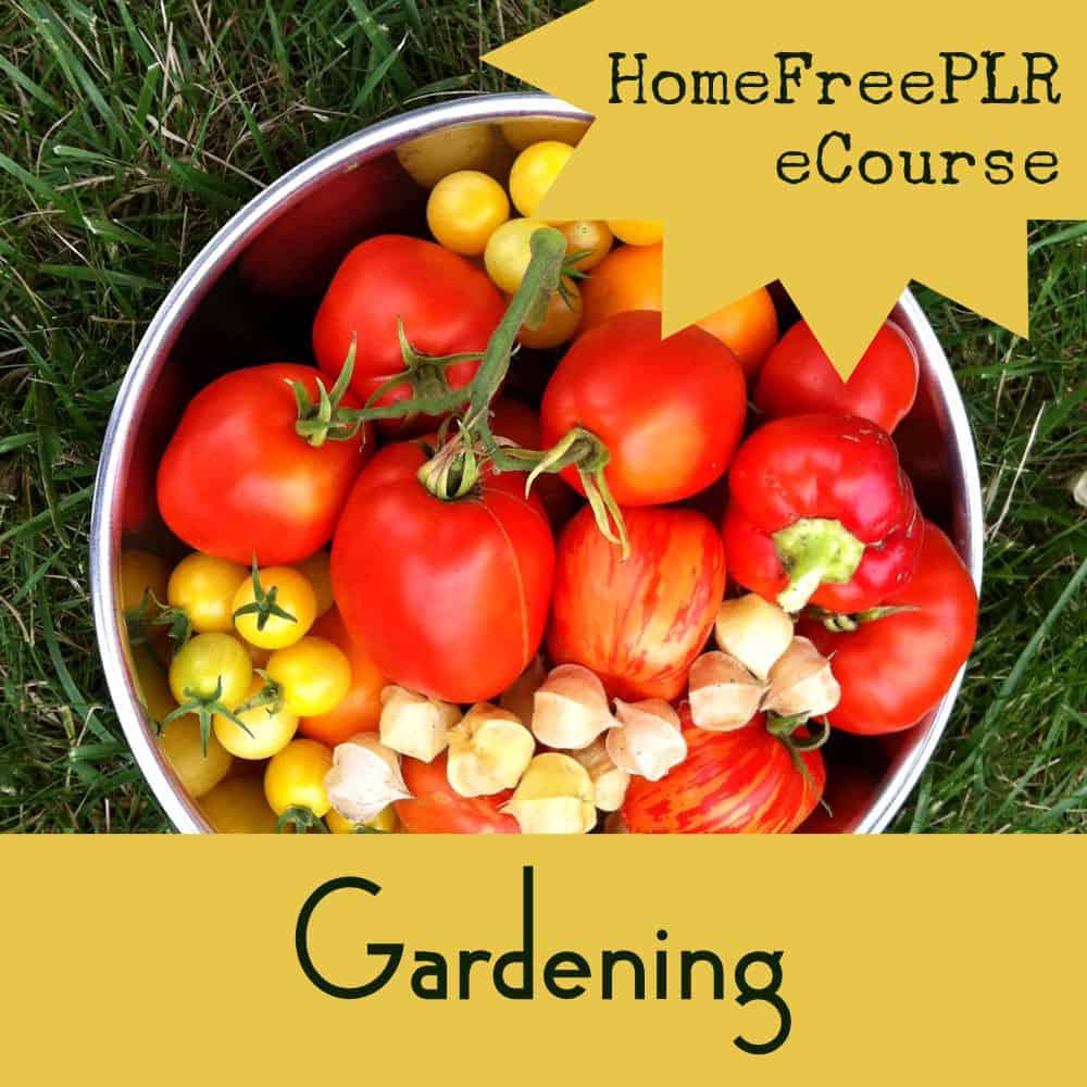 Gardening plr ecourse