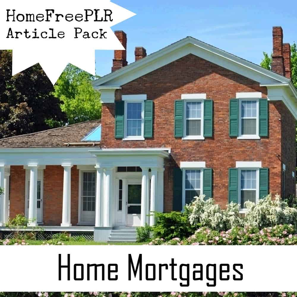 home mortgages plr