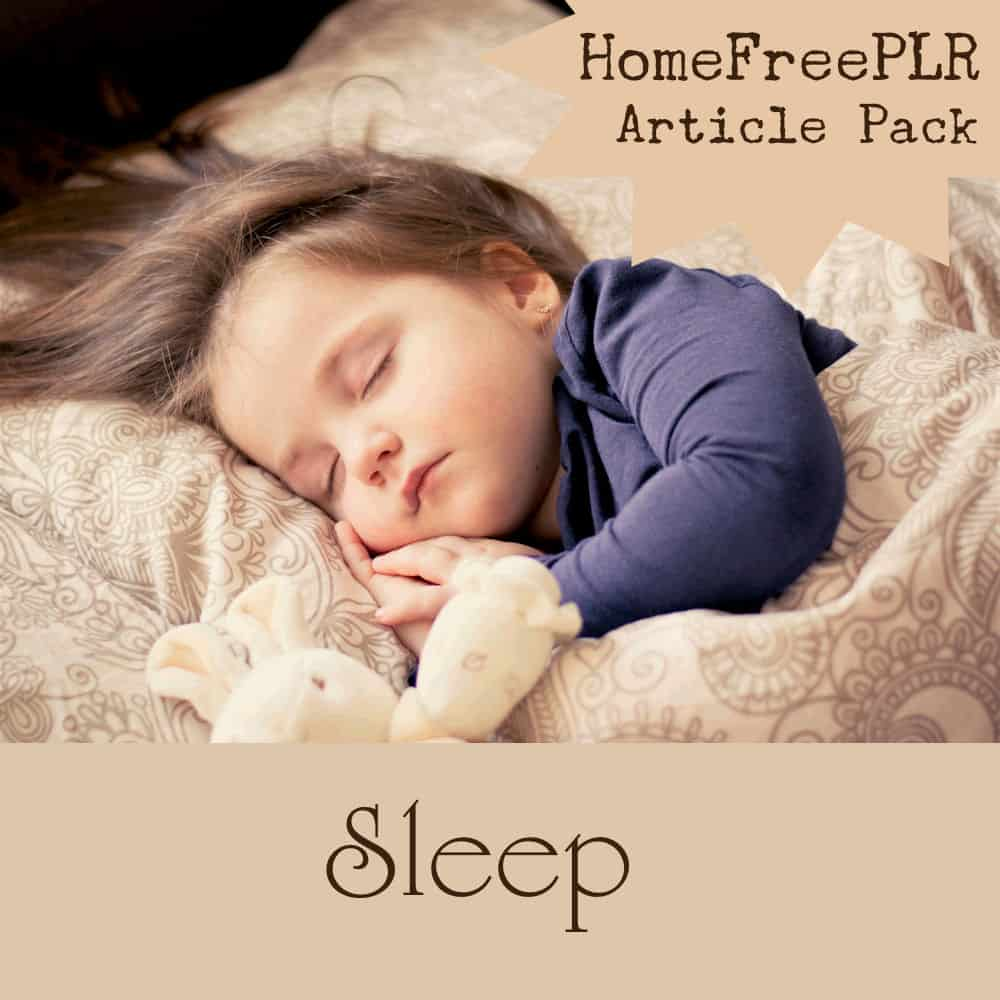 sleep plr articles