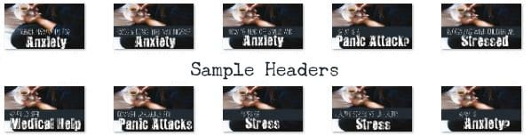 Anxiety PLR header images