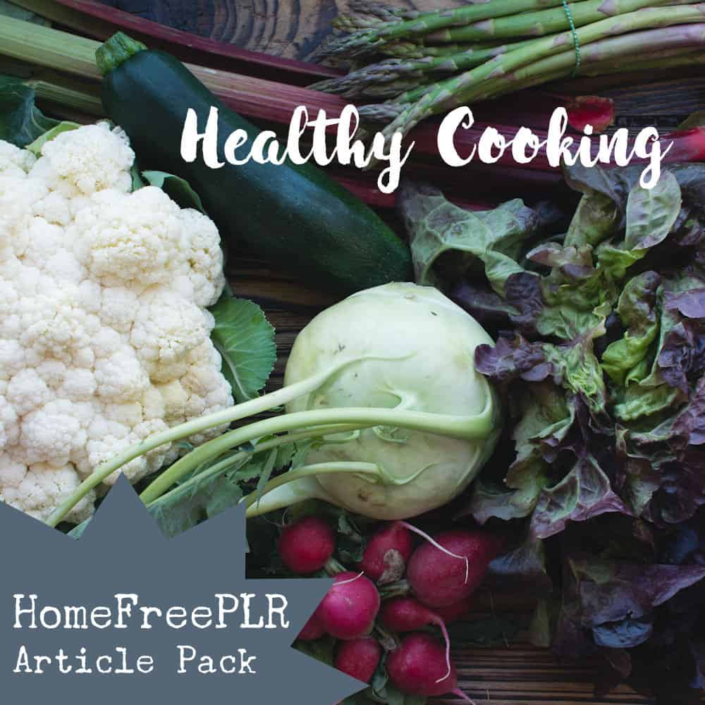 healthy cooking plr