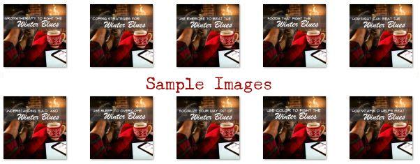 winter blues PLR sample images