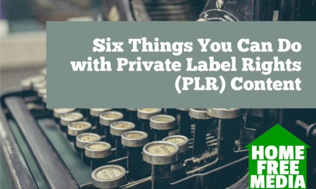 Six Things You Can Do with Private Label Rights (PLR) Content
