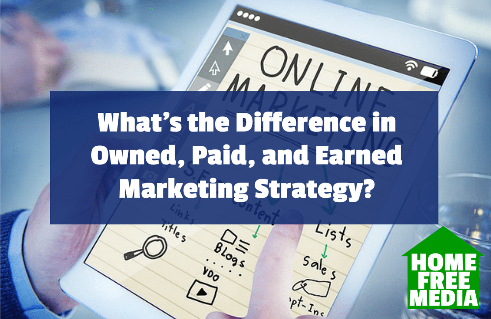 What's the Difference in Owned, Paid, and Earned Marketing Strategy
