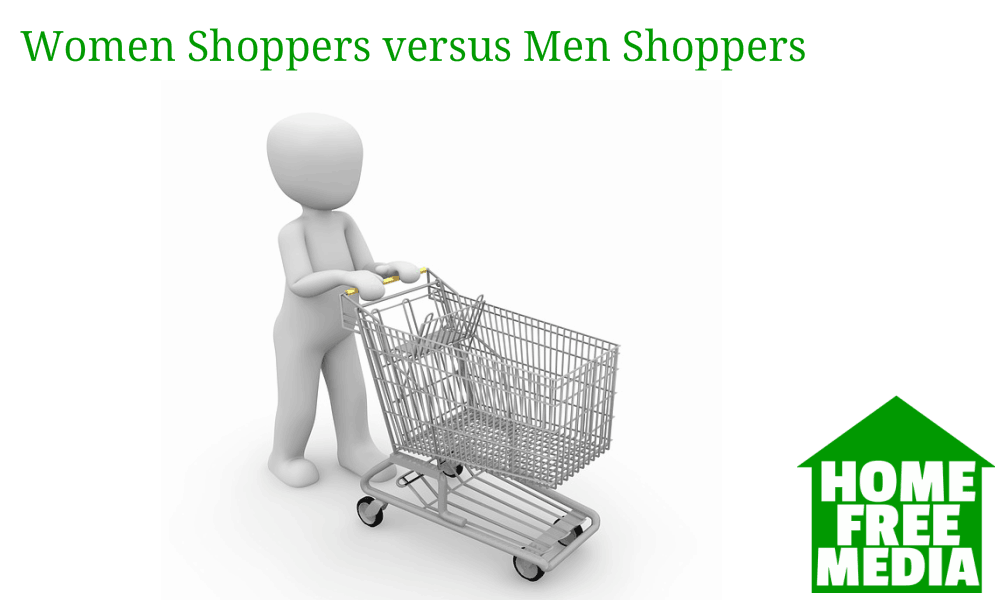 Women Shoppers versus Men Shoppers