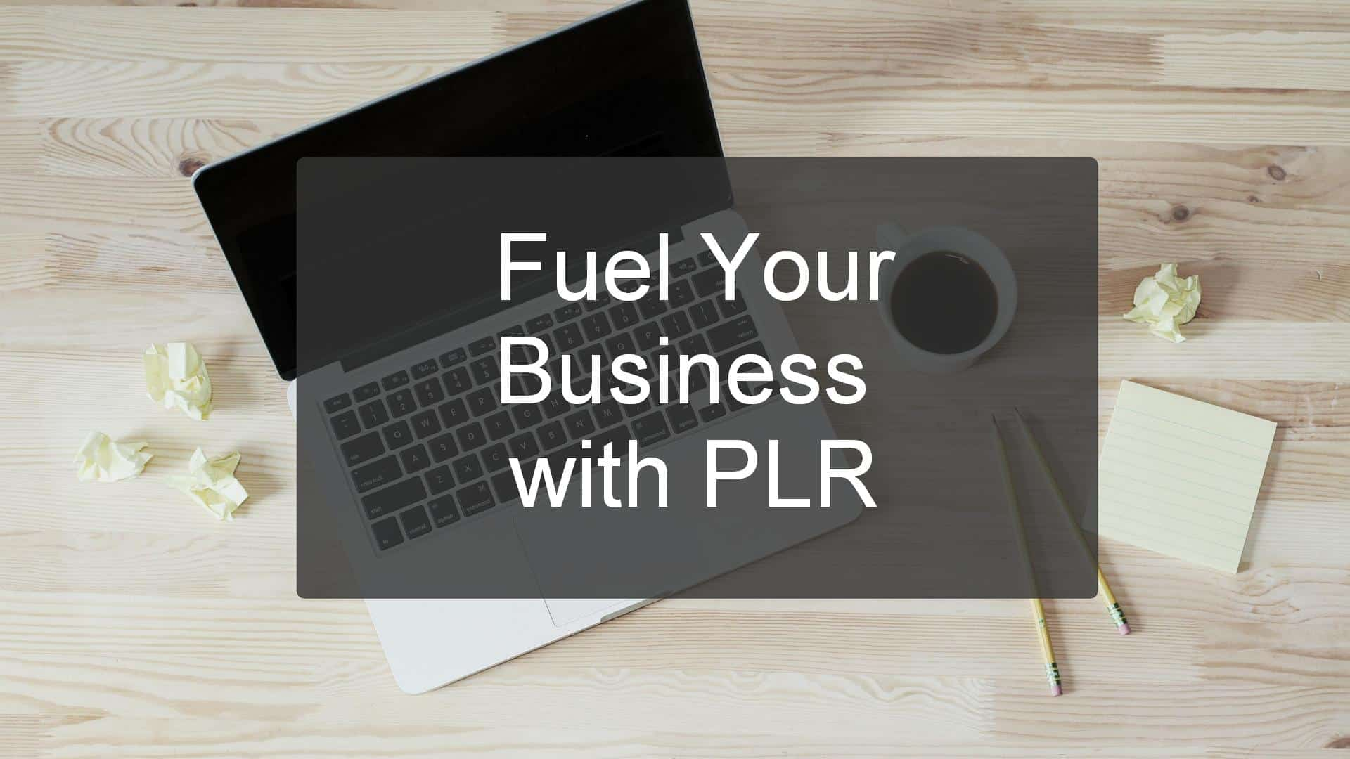 Fuel your business with plr