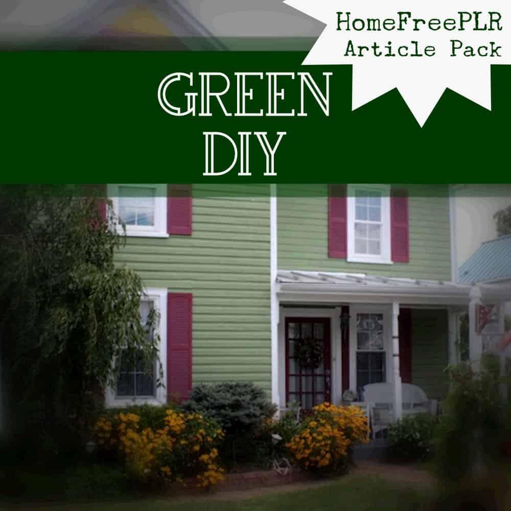 Green DIY PLR articles