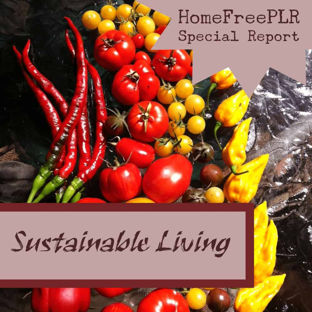 sustainable living plr