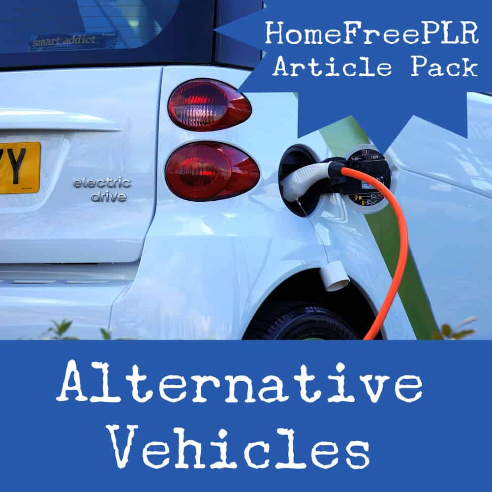 alternative vehicles plr article pack