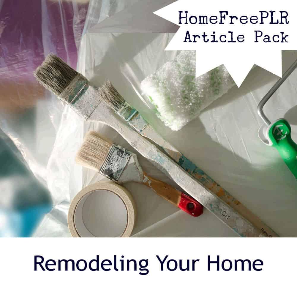 home remodeling plr