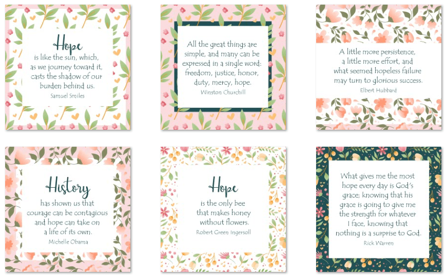 inspirational graphics hope 50 pack