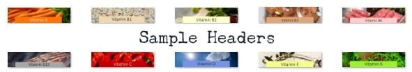 vitamin ABCs PLR header images