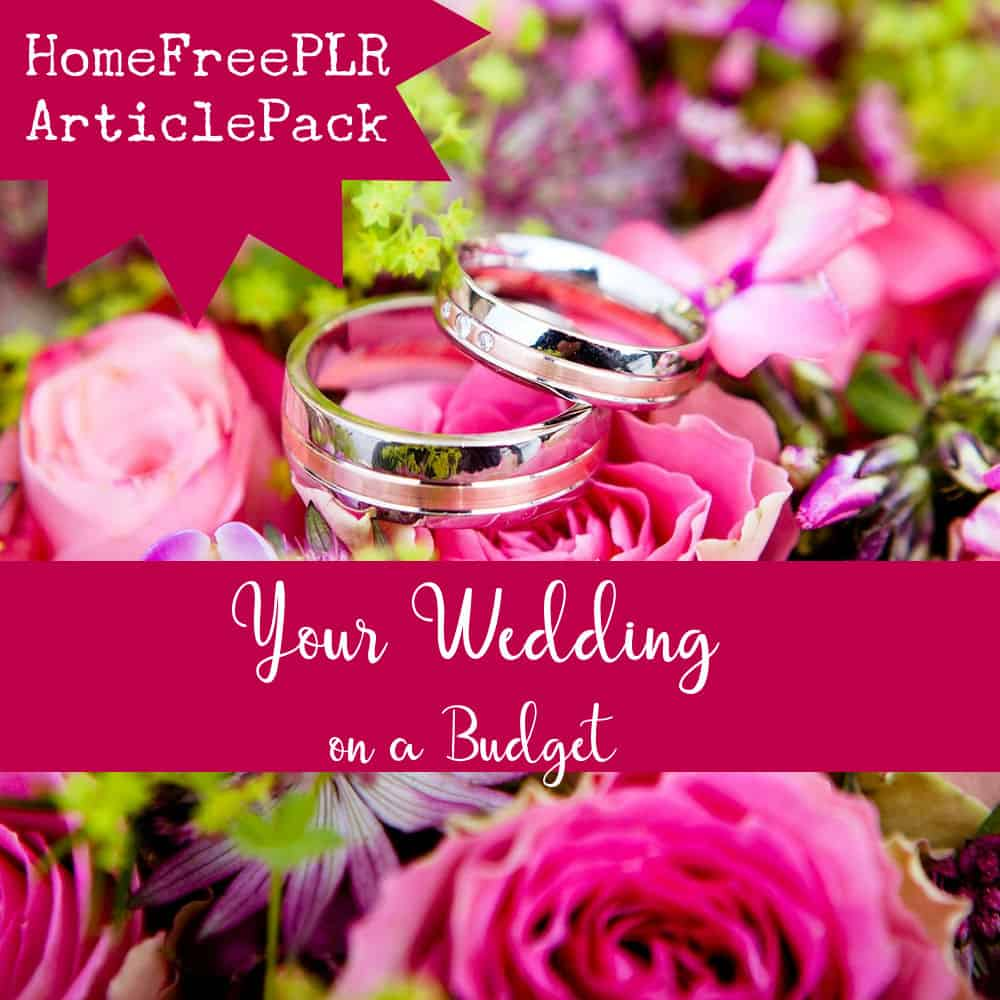 Wedding-on-a-budget PLR article pack