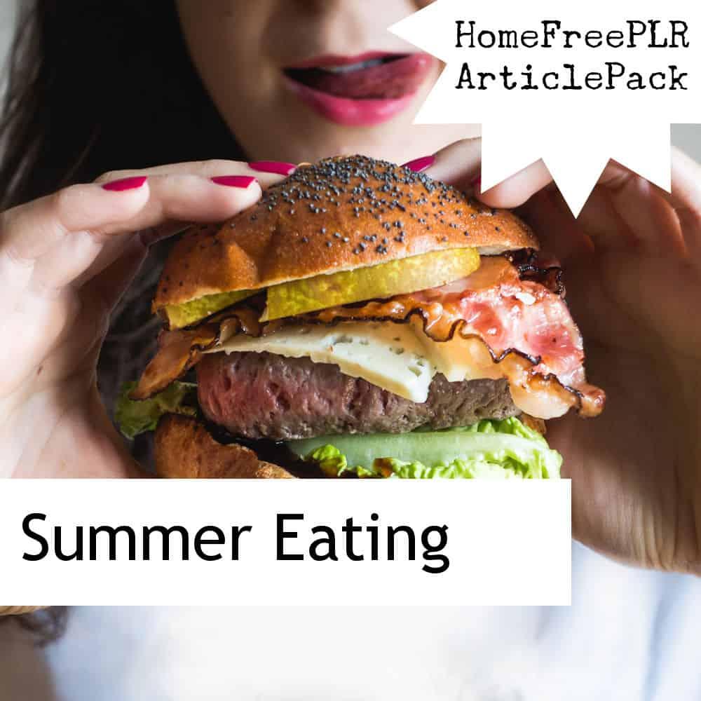 summer eating plr articles