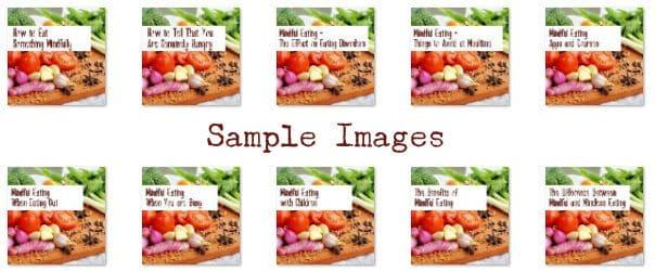 mindful eating plr images