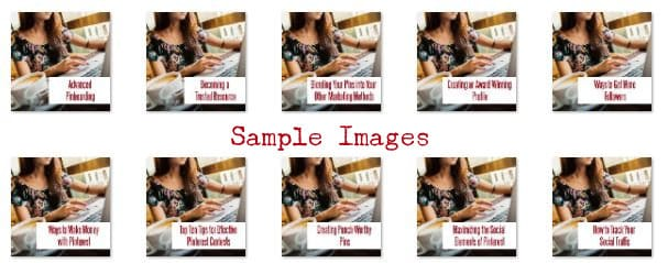 Pinterest PLR Sample Images