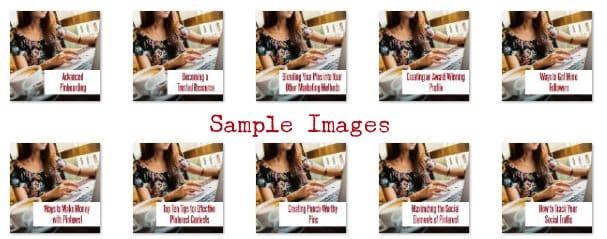 Pinterest PLR Sample Images