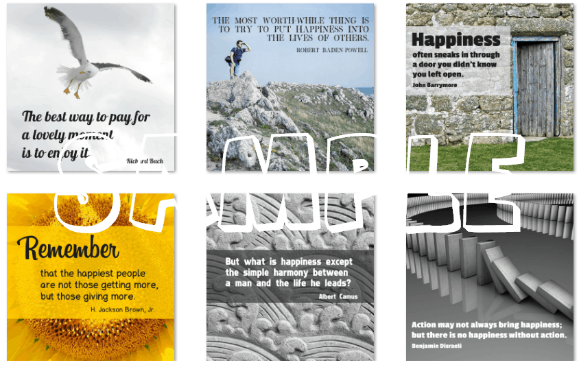 inspirational graphics happiness pack