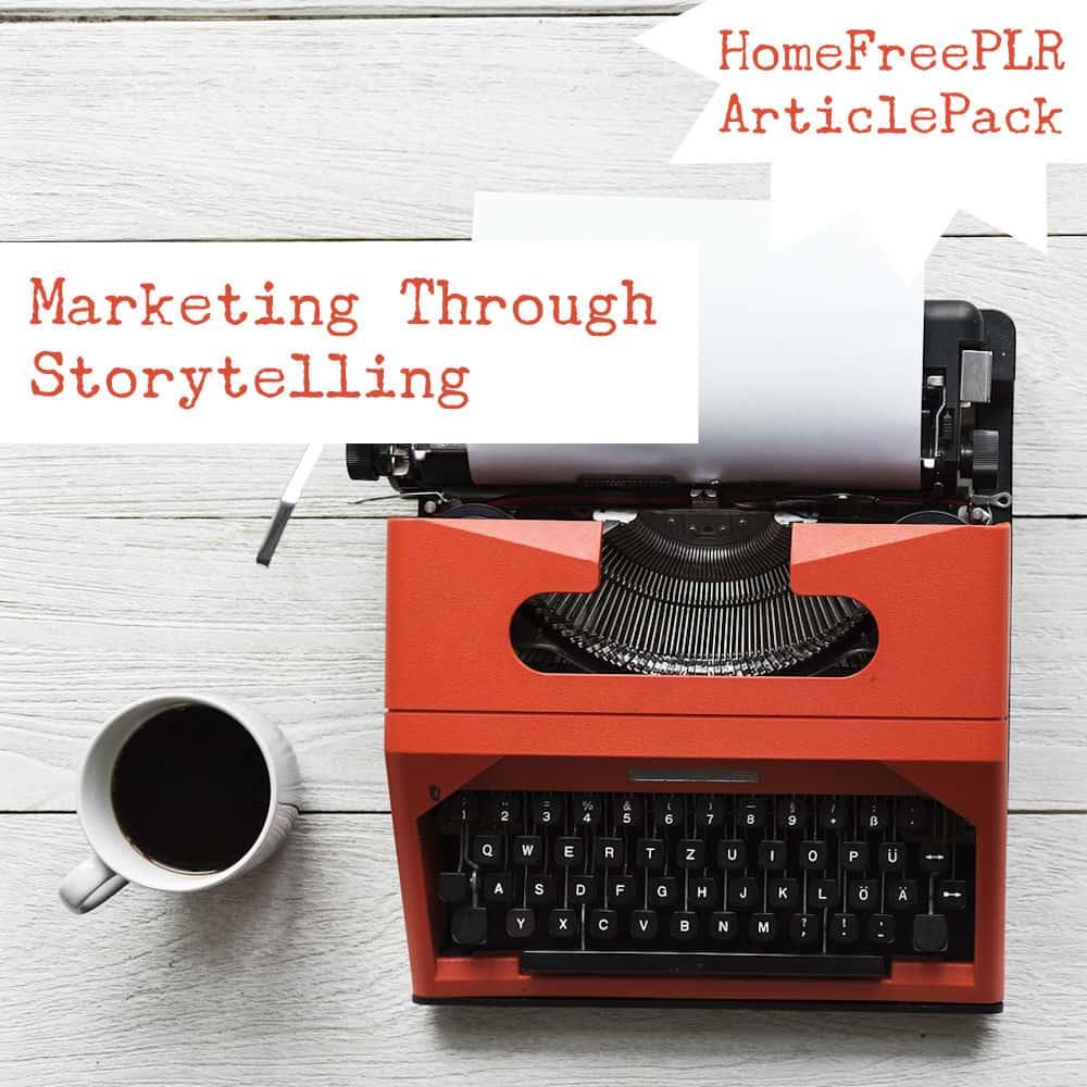 marketing through storytelling plr