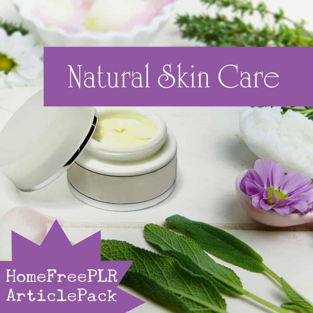 Natural Skin Care PLR Images