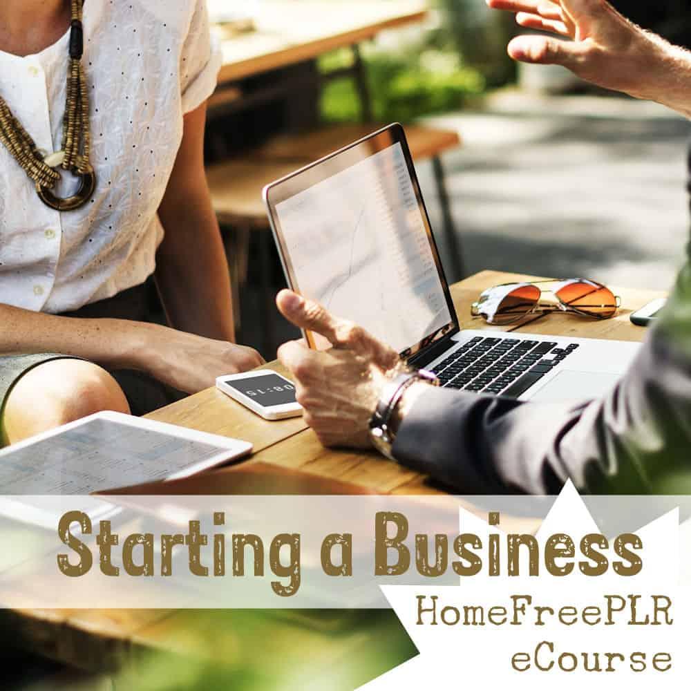 starting a business plr