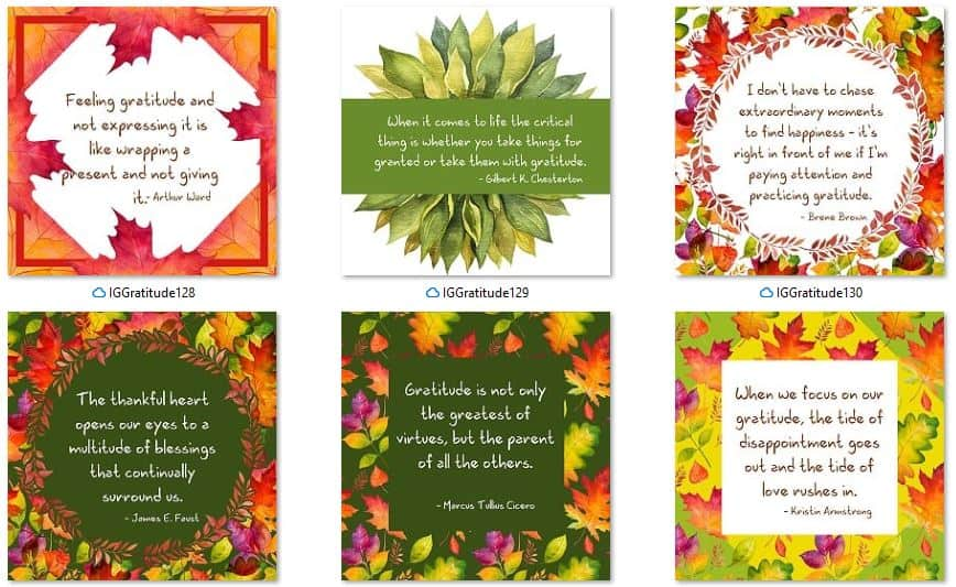 Inspirational Graphics Gratitude