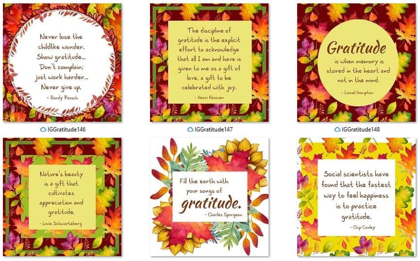 Inspirational Graphics Gratitude