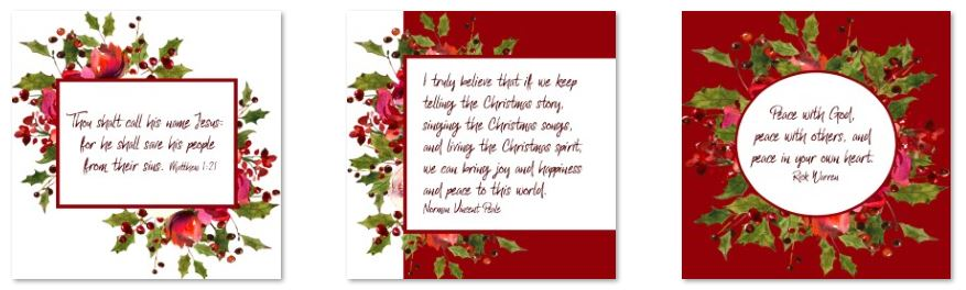 Christmas inspirational graphics