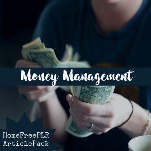 money management plr