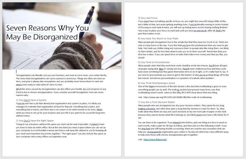 Business Solutions PLR
