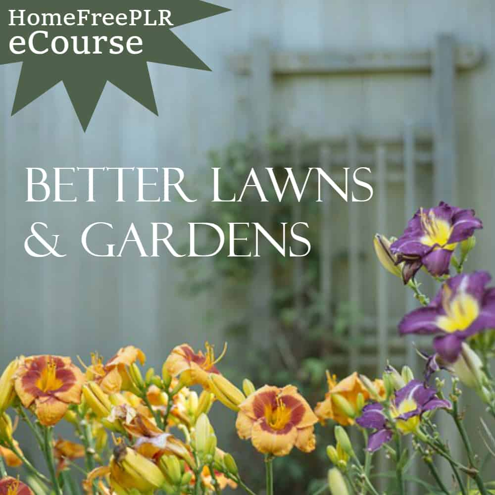 lawns gardens plr