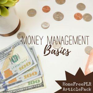 money management basics plr