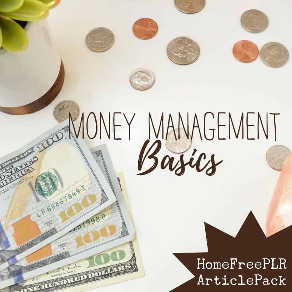 money management basics plr