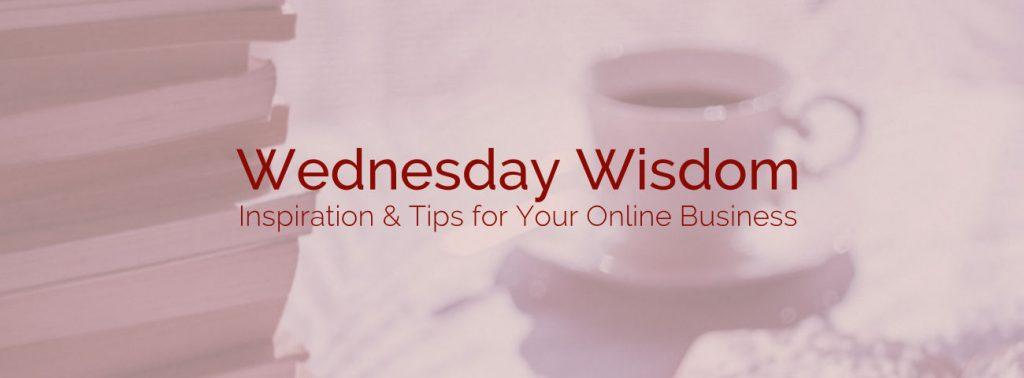 wednesday wisdom training