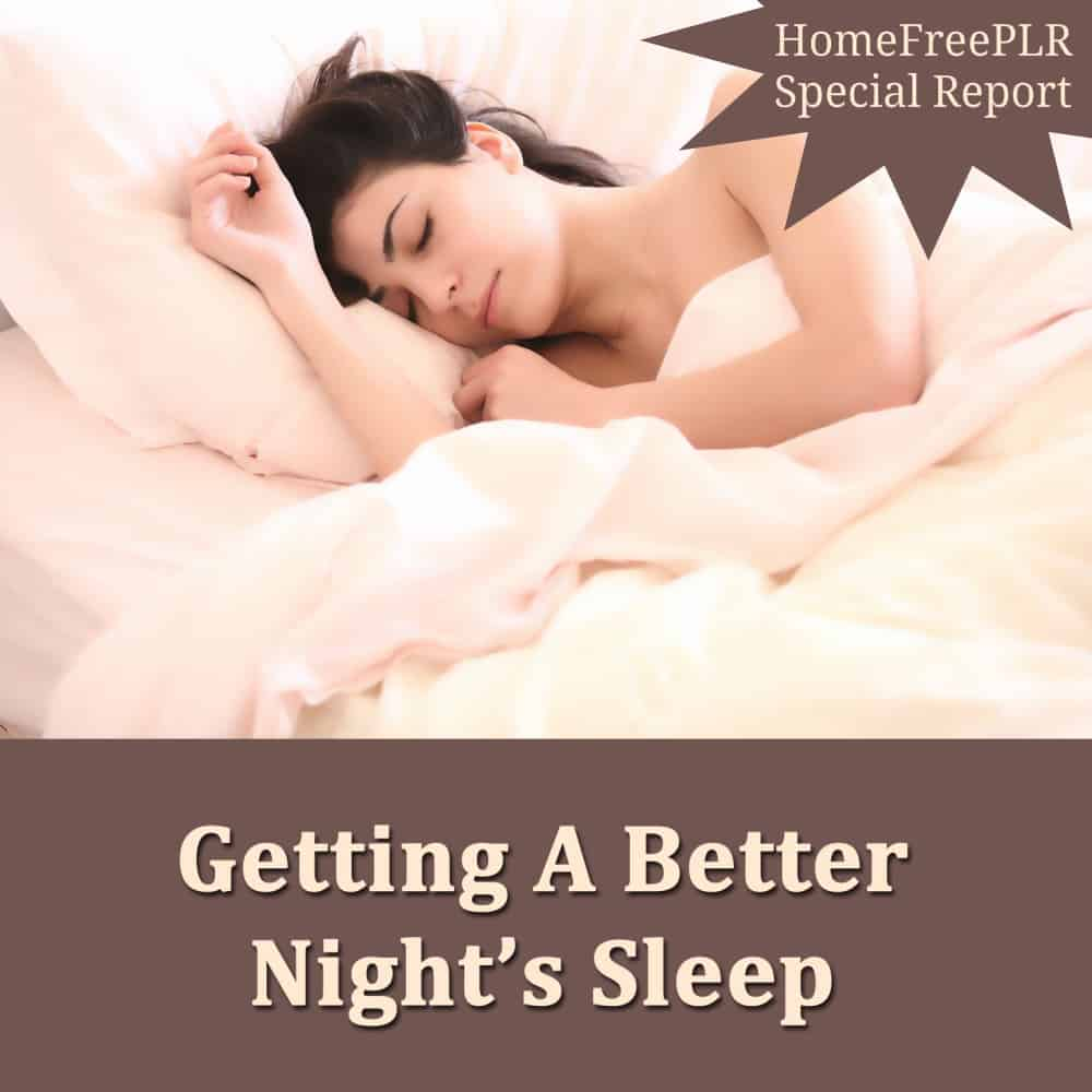 better sleep PLR