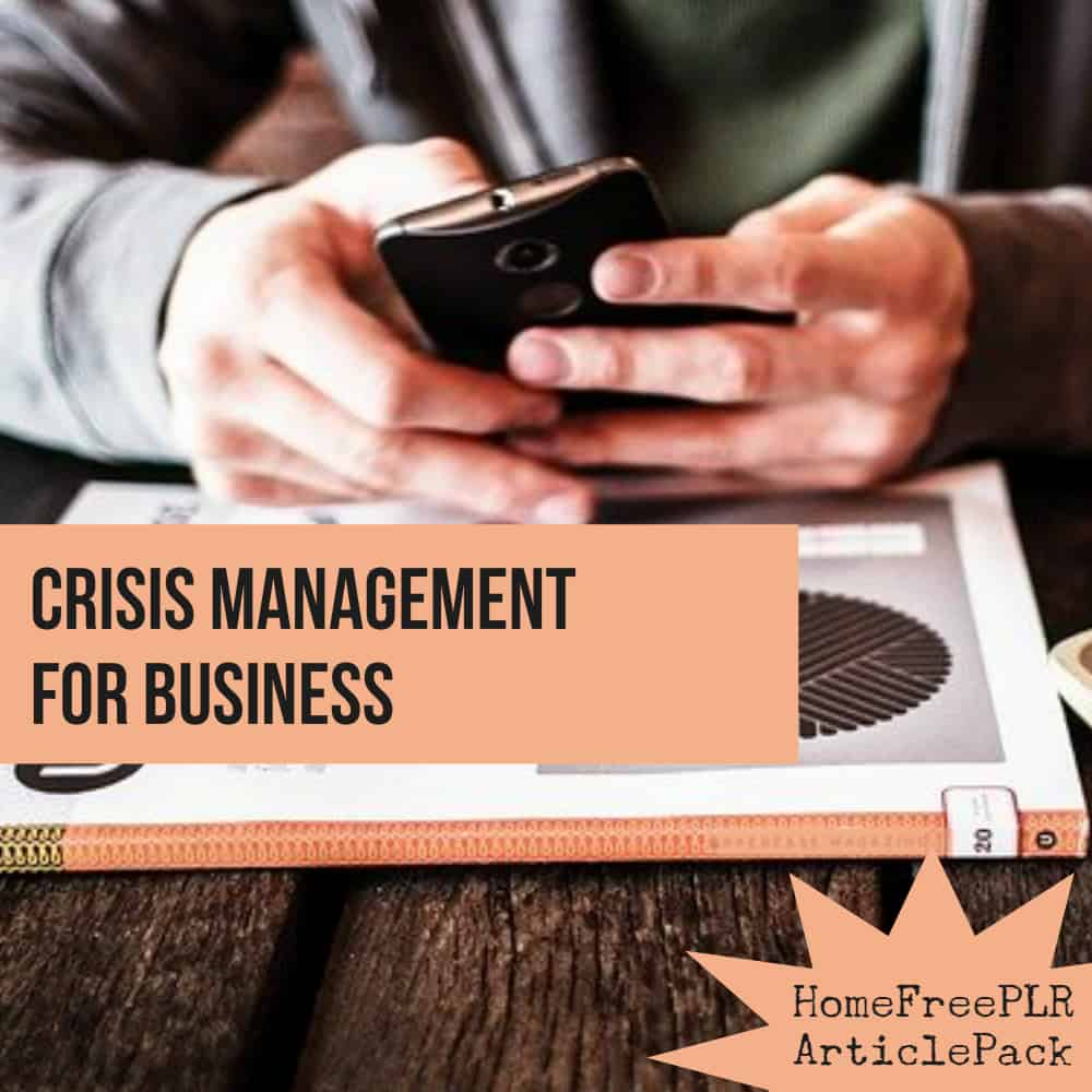 crisis management plr