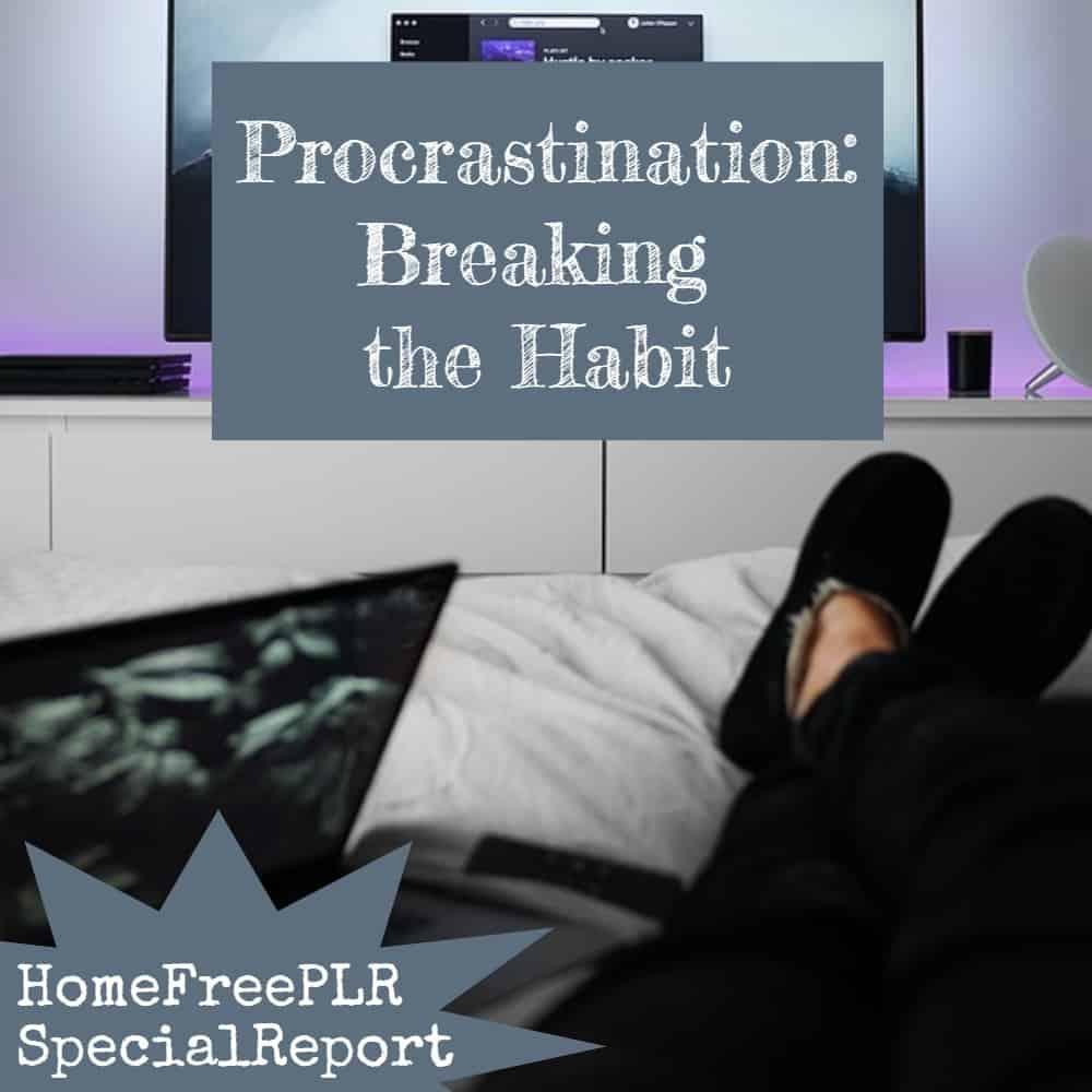 procrastination plr