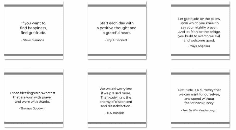 gratitude inspirational graphics